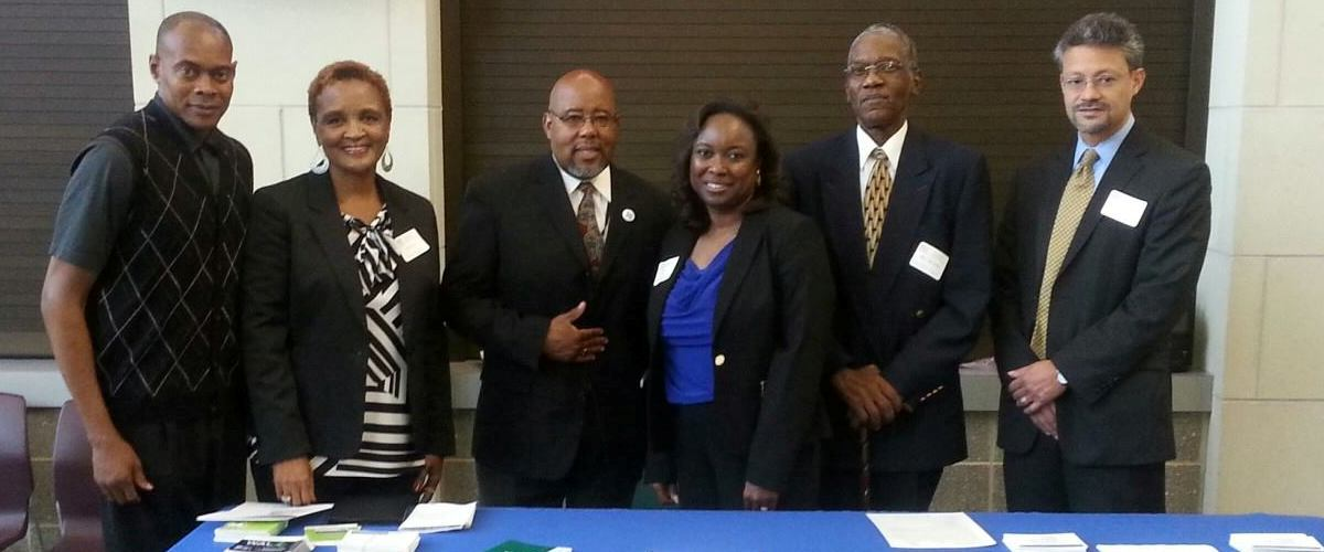 Rev. Ronnie Williams, second from right, with local Jefferson County Place Matters team members and Dr. Brian Smeadley (far right) , Director of the Joint Center's Health Institute.